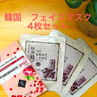 イッツスキン(It's skin)の韓国 フェイスマスク(シートパック)4枚セット(パック/フェイスマスク)