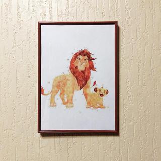 ディズニー(Disney)のアートポスター ディズニー A4 額縁付(アート/写真)