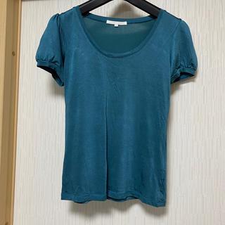 アナイ(ANAYI)のANAYI  カットソー グリーン(Tシャツ/カットソー(半袖/袖なし))
