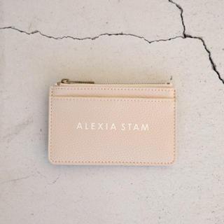 アリシアスタン(ALEXIA STAM)のalexiastam カードケース ピンク(名刺入れ/定期入れ)