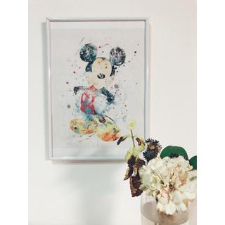 ディズニー(Disney)のA4 額付き ディズニーアートポスター(アート/写真)