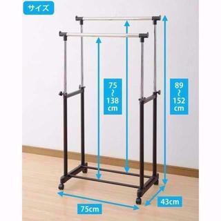 パイプハンガーラック ダブル 耐荷重15k  ¥2,990 商品説明  商品説明(電話台/ファックス台)