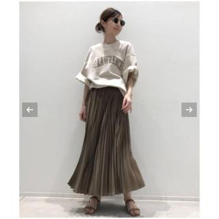 アパルトモンドゥーズィエムクラス(L'Appartement DEUXIEME CLASSE)のL'APPARTEMENT アパルトモン   Pleats Skirt ベージュ(ロングスカート)