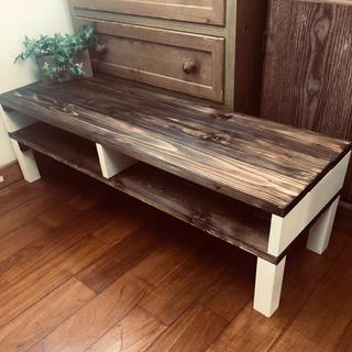 お洒落アンティークテーブル センターテーブル  ハンドメイド家具(ローテーブル)
