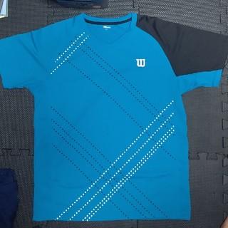 ウィルソン(wilson)のWilson テニスウェア ブルー/ブラック XL(ウェア)