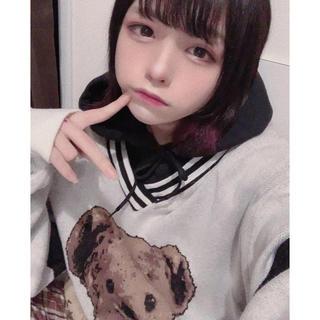 ミルクボーイ(MILKBOY)のぎんしゃむ 着用 TRAVAS TOKYO  くま ニットFurry bear (ニット/セーター)