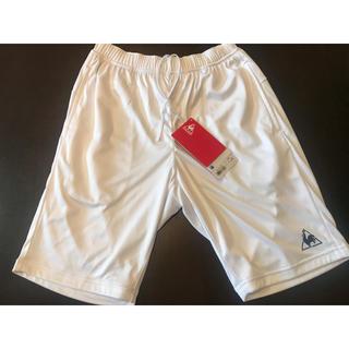 ルコックスポルティフ(le coq sportif)のルコック ハーフパンツ ホワイト ウエスト71〜77cm 新品(ショートパンツ)