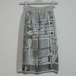 エルメス(Hermes)のエルメスHERMESスカート34ツイルレーヌ2019AW(ロングスカート)