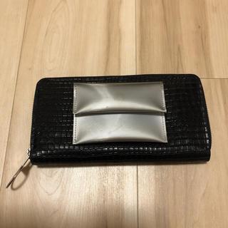 エムエムシックス(MM6)のMM6 Martin Margiela レザー型押し 長財布 ラウンドファスナー(財布)