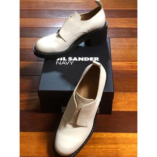 ジルサンダー(Jil Sander)のJILSANDER NAVY フロントゴアヒールブーツ(ブーツ)