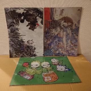 天野喜孝 2019 ファンタジーアート展 クリアファイル ポストカード 缶バッジ(クリアファイル)
