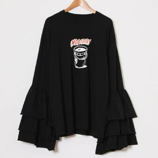 ホリデイ(holiday)の【タグ付】Holiday SUPER FINE RUFFLE TOPS(Tシャツ(長袖/七分))