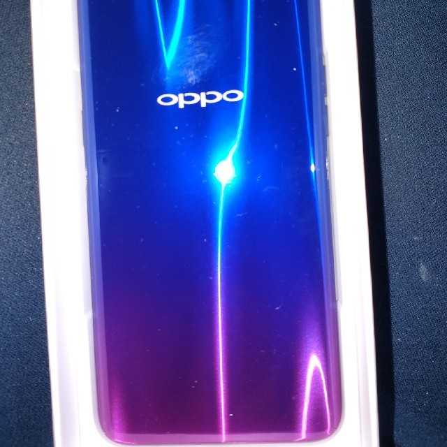 ANDROID(アンドロイド)のOPPO R17 neo BLUE ブルー UQ mobile 美品 スマホ/家電/カメラのスマートフォン/携帯電話(スマートフォン本体)の商品写真