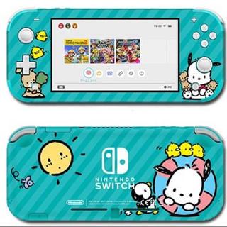 ニンテンドースイッチ(Nintendo Switch)のポチャッコ ターコイズブルー サンリオ スキンシール Switch スイッチ(携帯用ゲーム機本体)