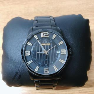 ポリス(POLICE)のポリス 腕時計 黒色 POLICE 【美品】(腕時計(アナログ))