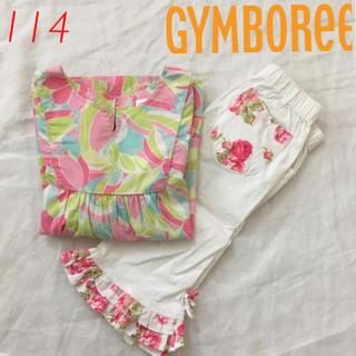 ジンボリー(GYMBOREE)のGYMBOREE  フローラルシャツ&カプリパンツ 114(ブラウス)