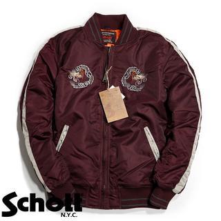ショット(schott)のSchott NYC ショット ★XS 刺繍 スカジャン スーベニアジャケット(フライトジャケット)