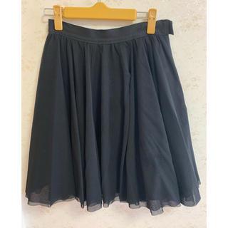 アベニールエトワール(Aveniretoile)のアベニールエトワール  チュールスカート 黒(ひざ丈スカート)