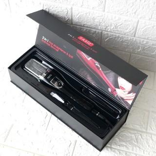 (黒)枝毛カッター ヘアアイロン ストレート・枝毛切り両用 枝毛除去 温度調整(ヘアアイロン)