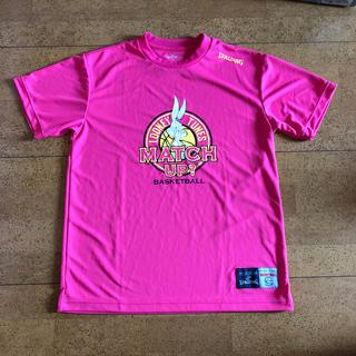 スポルディング(SPALDING)のバスケTシャツ ピンク(バスケットボール)