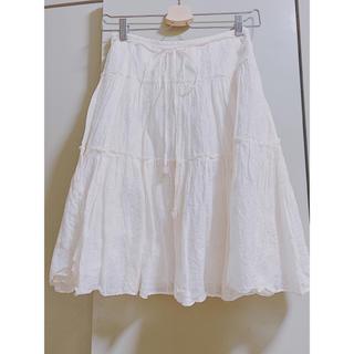 エムケーミッシェルクラン(MK MICHEL KLEIN)のスカート 膝丈 オフホワイト MK(ひざ丈スカート)