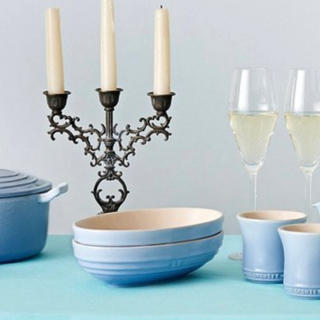 ルクルーゼ(LE CREUSET)のル・クルーゼ オーパル・ボール 23㎝ 2枚セット ブルー(食器)