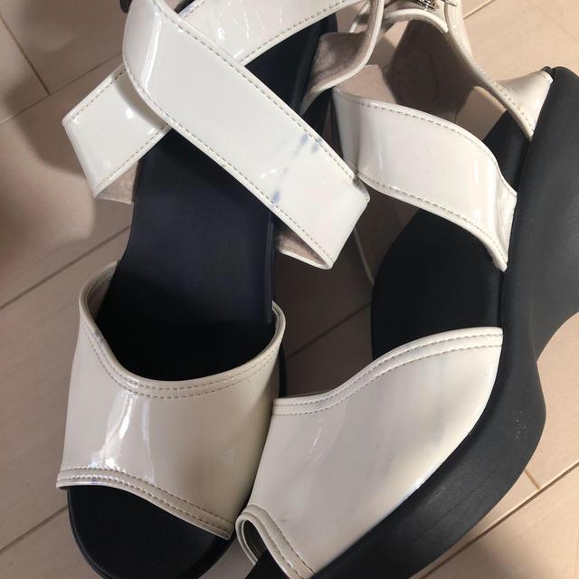 Re:getA(リゲッタ)のリゲッタ 黒 白 2点 サンダル  Lサイズ   レディースの靴/シューズ(サンダル)の商品写真
