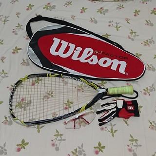 ウィルソン(wilson)のWilson スカッシュラケット&グローブ&保護メガネ☆送料無料(その他)