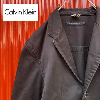 カルバンクライン(Calvin Klein)の☆カルバンクライン☆3ポケット☆コットンジャケット☆ブラック(テーラードジャケット)