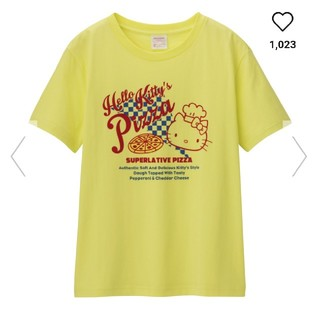 ジーユー(GU)のGU ハローキティコラボTシャツ(Tシャツ(半袖/袖なし))