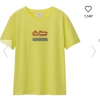 ジーユー(GU)のGU マイメロディコラボTシャツ(Tシャツ(半袖/袖なし))