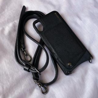iPhoneX/XSバンドリヤーEMMAPEWTER黒BANDOLIERブラック