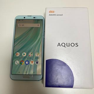 アクオス(AQUOS)のau Androidスマホ AQUOS sense2 SHV43 グリーン(スマートフォン本体)