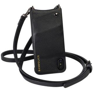 バーニーズニューヨーク(BARNEYS NEW YORK)のiPhoneX/XSバンドリヤーEMMAPEWTER黒BANDOLIERブラック(iPhoneケース)