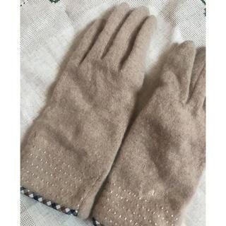 ザラ(ZARA)の【美品】aquascutumベージュ手袋(手袋)