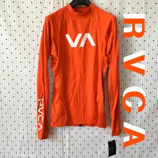 ルーカ(RVCA)のRVCAルーカUS限定ロングスリーブラッシュガード M red(水着)