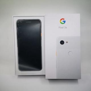 【未使用】SIMフリー Google Pixel3a ホワイト 格安SIM対応(スマートフォン本体)