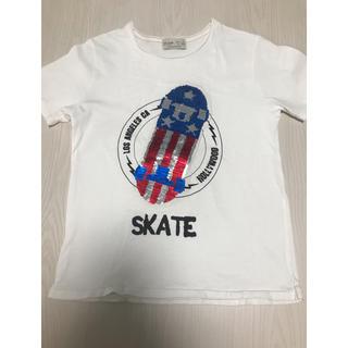 ザラキッズ(ZARA KIDS)のZARAKIDS スパンコール2wayT-シャツ(Tシャツ/カットソー)