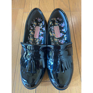 リズリサ(LIZ LISA)のリズリサ キルトタッセルローファーパンプス Sサイズ(ローファー/革靴)