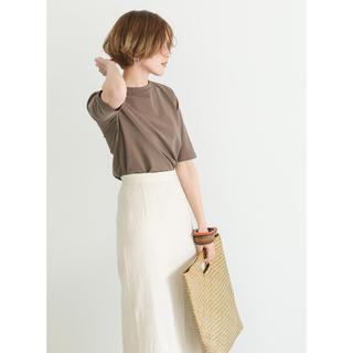 トゥデイフル(TODAYFUL)の美品 select MOCA ハーフスリーブコットンTEE(Tシャツ/カットソー(半袖/袖なし))