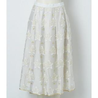 フランシュリッペ(franche lippee)のフランシュリッペ もこもこスタースカート Mサイズ/ミルク タグ付新品未使用(ロングスカート)
