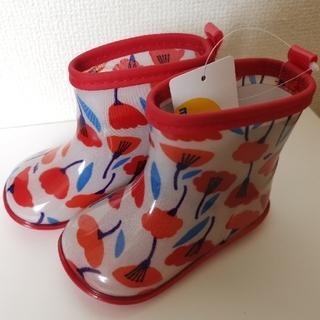 ムージョンジョン(mou jon jon)の【Rei様専用】moujonjon花柄レインブーツ+レインコート(長靴/レインシューズ)