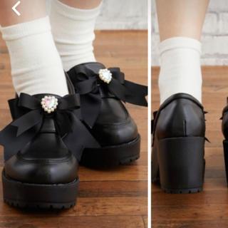 リズリサ(LIZ LISA)の[くるりん様専用]リズリサ 厚底リボンローファー(ローファー/革靴)