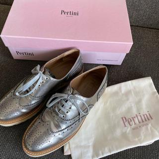 イエナ(IENA)のPertini ペルティニ  レースアップシューズ シルバー(ローファー/革靴)