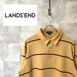 ランズエンド(LANDS'END)の美品 ランズエンド 90s ビッグシルエット ラガーシャツ 大きめ ベージュ(シャツ)