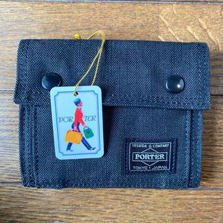 ポーター(PORTER)の新品未使用 ポーター スモーキー ブラック 2つ折り財布 592-06332 黒(折り財布)