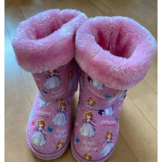 ディズニー(Disney)のプリンセス ソフィア ムートンブーツ ボアブーツ 18(ブーツ)