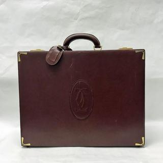 カルティエ(Cartier)の【SALE】カルティエ アタッシュケース マストライン レザー ボルドー(ビジネスバッグ)