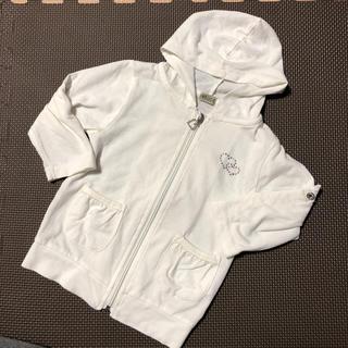 シマムラ(しまむら)のしまむら★ 女の子 白のパーカー 90cm(ジャケット/上着)