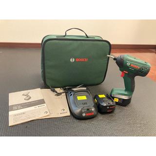 ボッシュ(BOSCH)のBOSCH18V インパクトドライバー (バッテリー2個・充電器・ケースセット)(工具)
